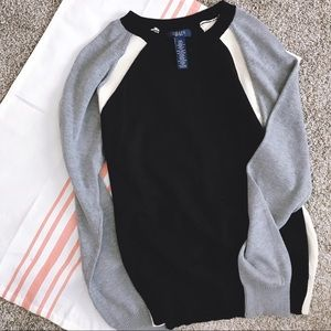 Chaps Color-Block Sweater